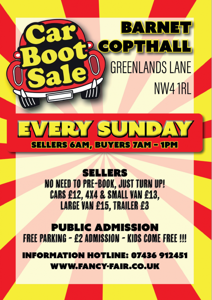 Barnet Car Boot Sale Every Sunday