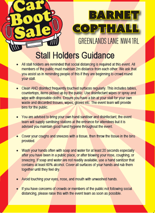 Stall Holder Guidance